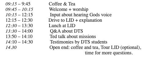 Programma DTS Open Day